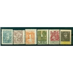 République de Lituanie centrale 1920 - Y & T n. 11/16 - Série courante