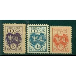 République de Lituanie centrale 1920/21 - Y & T n. 22-24-26 - Série courante