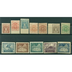 Pologne du Sud 1919 - Y & T n. 172/83 - Série courante