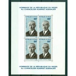Niger 1967 - Y & T feuillet n. 5 - Konrad Adenauer