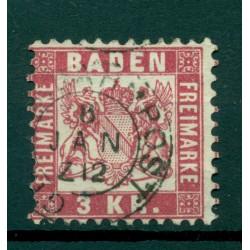 Bade 1868 - Michel n. 24 - Série courante (ii)