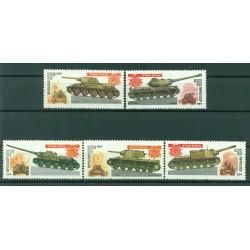 URSS 1984 - Y & T n. 5066/70  - Blindés soviétiques