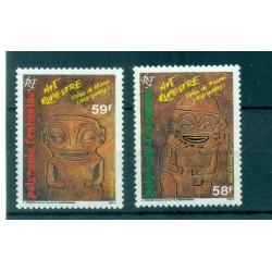 Polynésie Française 1986 - Y & T n. 259/260 - Tikis III