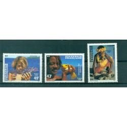 Polynésie Française 1986 - Y & T n. 249/251 - Visages Polynésiens