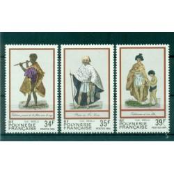Polynésie Française 1984 - Y & T n. 216/218 - Costumes Polynésiens