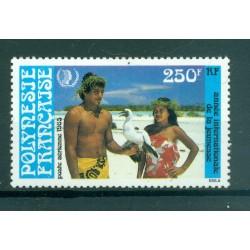 Polynésie Française 1985 - Y & T n. 188 P.A. - Journée int.le Jeunesse