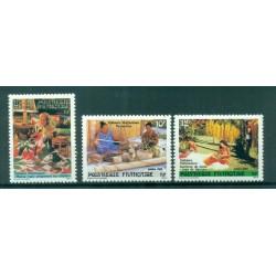 Polynésie Française 1986 - Y & T n. 263/265 - Artisanat