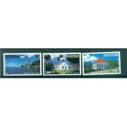Polynésie Française 1986 - Y & T n. 193/195 P.A. - Temples