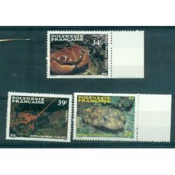 Polynésie Française 1987 - Mi. n. 473/475 - Crustacés