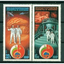 URSS 1979 - Y & T n. 4593/94 - Collaborazione Intercosmos con la Bulgaria