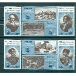 BATEAUX - SHIPS PALAU 1986 Bicentennial Cpt Wilson's Voyage
