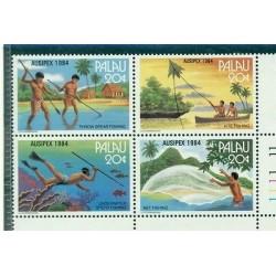 BATEAUX, PECHE - FISHING PALAU 1984