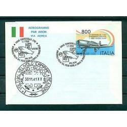 Italie - Aerogramme 1991 - 1er avion à réaction italien
