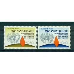 Nations Unies Genève  1973 - Y & T n. 35/36 - Droits de l'Homme