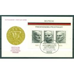 Allemagne 1975 - Y & T feuillet n.10 - Lauréats allemands du prix Nobel de la Paix