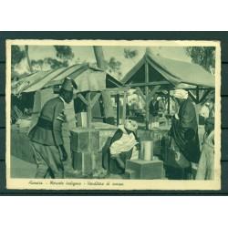 Eritrea 1936 - Postcard Asmara - Indigenous market - shoe seller