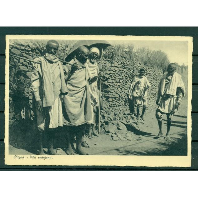"""Ethiopie - CPA """"la vie indigène"""""""