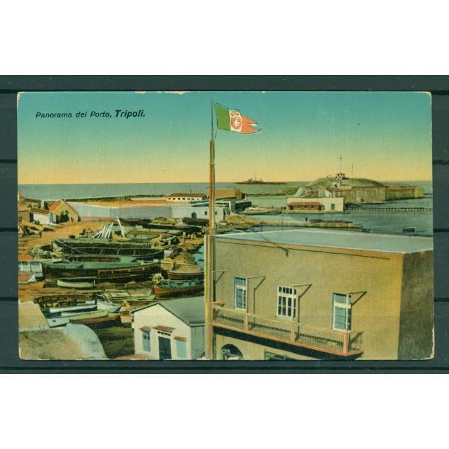 """Libye ca. 1910 - Carte postale Tripoli """"vue sur le port"""""""
