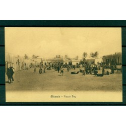 "Libya ca. 1910 - Postcard  Misrata ""market square"""