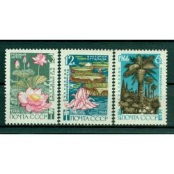 URSS 1966 - Y & T n. 3117/19 - Jardin botanique de Soukhoumi