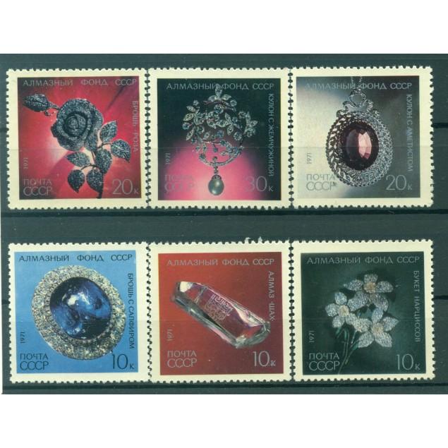 URSS 1971 - Y & T n. 3785/90 - Parures de diamants de l'URSS