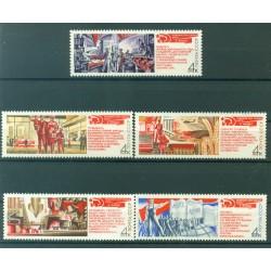 URSS 1971 - Y & T  n. 3761/65 - Décisions du 24e congrès du PCUS