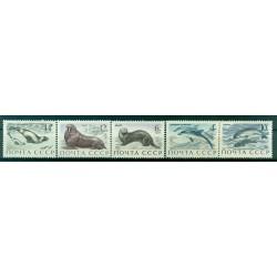 URSS 1971 - Y & T n. 3747/51 - Faune marine