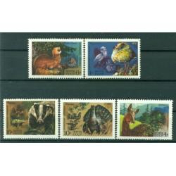URSS 1975 - Y & T n. 4176/80 - Faune de l'URSS