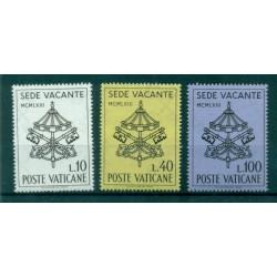 """Vatican 1963 - Mi. n. 429/431 - """"Sede Vacante"""""""