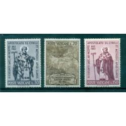 Vatican 1963 - Mi. n. 436/438 - Saints Cyrille & Méthode