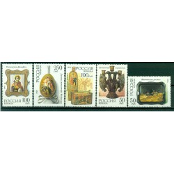 Russian Federation 1992 - Y & T n. 6023/27 - Pieces of the Museum of Applied Arts and Crafts