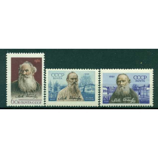 URSS 1960 - Y & T n. 2346/48 - Lev Tolstoj
