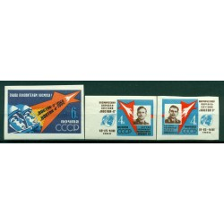 URSS 1962 - Y & T n. 2550/52 - Premier vol spatial groupé