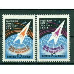 URSS 1962 - Y & T n. 2545/46 - Vol spatial de Titov sur Vostok II