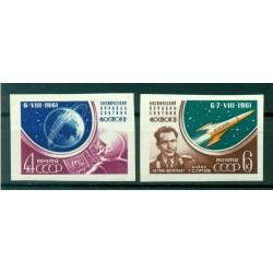 URSS 1961 - Y & T n. 2452/53 a - Herman Titov, secondo cosmonauta