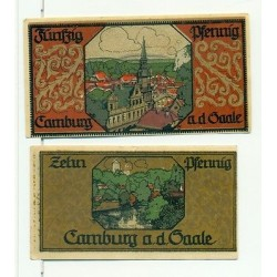 OLD GERMANY EMERGENCY PAER MONEY - NOTGELD Camburg a.d. Saale 1921