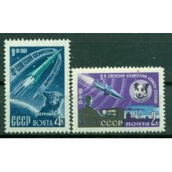 URSS 1961 - Y & T n. 2426/27 - Lancement des 4e et 5e vaisseuax cosmiques