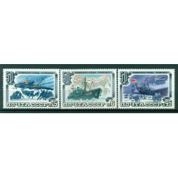 """URSS 1984 - Y & T n. 5092/94 - Expédition arctique du bateau """"Tscheljuskin"""""""