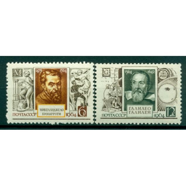 URSS 1964 - Y & T n. 2902/03 - Michel-Ange et Galileo Galilei
