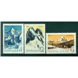 URSS 1964 - Y & T n. 2899/2901 - Développement de l'alpinisme