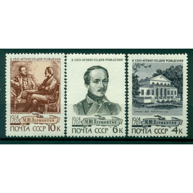 URSS 1964 - Y & T n. 2873/75 - Mikhail Lermontov