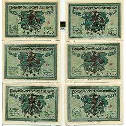 OLD GERMANY EMERGENCY PAPER MONEY - NOTGELD Arnstadt 1921