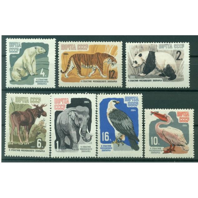 URSS 1964 - Y & T n. 2821/27 - Giardino Zoologico di Mosca