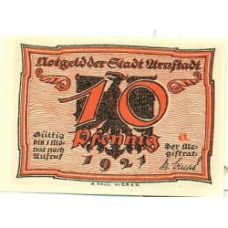 "OLD GERMANY EMERGENCY PAPER MONEY - NOTGELD Arnstadt 1921 10 Pf  ""a"""