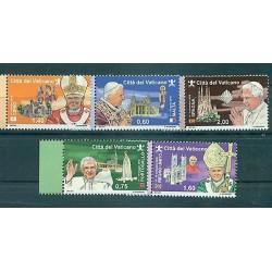 """Vatican 2011 - Mi. n. 1721/1725 - """"Viaggi del Papa"""" Benoît XVI"""