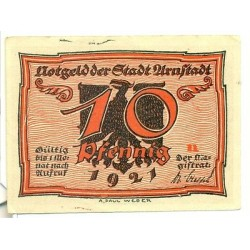 "OLD GERMANY EMERGENCY PAPER MONEY - NOTGELD Arnstadt 1921 10 Pf  ""n"""