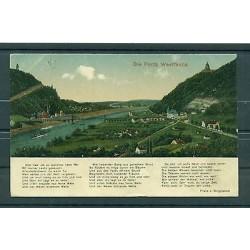 """Germany 1923 - Michel n.244 - Postcard """"Porta Westfalica"""""""