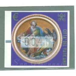 FRANCOBOLLI AUTOMATICI - AUTOMATIC STAMP VATICAN 2002 Evangelist John Mi. 11y
