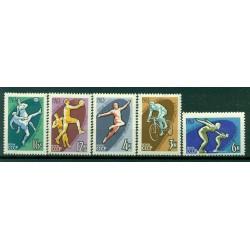 URSS 1963 - Y & T n. 2684/88 - Spartakiades des peuples de l'URSS