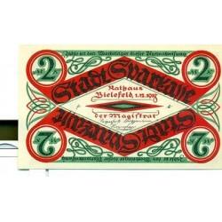 OLD GERMANY EMERGENCY PAPER MONEY - NOTGELD Bielefeld 1918 2 Mk